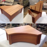 mahogany storage bench