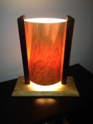 cherry lamp - lit