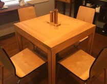 danish style flip table - closed