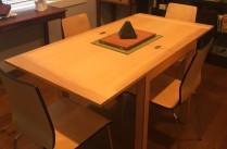 danish style flip table - opened