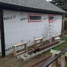 garage exterior construction