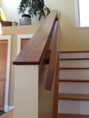 custom wall capping and handrail
