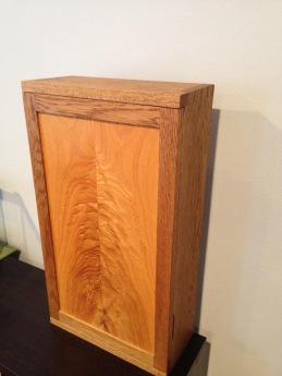 oak wall box