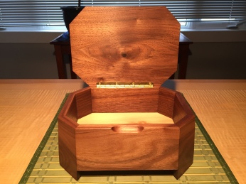 walnut bevel box