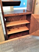 faux post and beam with wine rack insert - cabinet detail