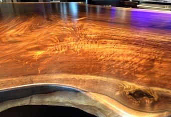 claro walnut island - top detail