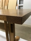 SKINNY trestle table - corner detail