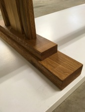 SKINNY trestle table - foot detail