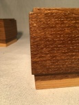 fumed oak box - corner detail