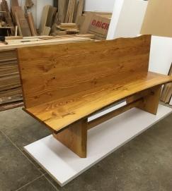 high-back bench