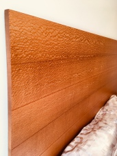 Floating Headboard - grain detail