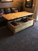 tamarack live edge coffee table - open