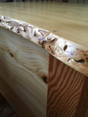 tamarack live edge end table close up