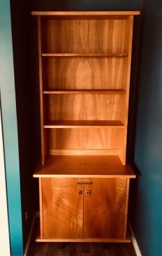 custom cabinet with bookshelf
